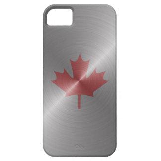 Hoja de arce del platino de Canadá Funda Para iPhone 5 Barely There