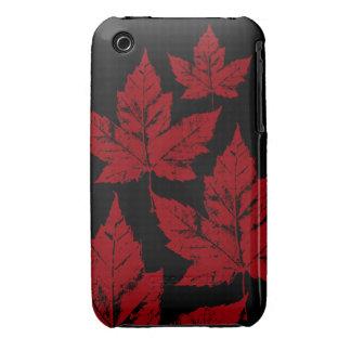 Hoja de arce fresca del recuerdo de Canadá del iPhone 3 Case-Mate Protectores