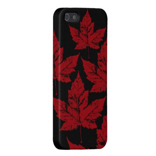 Hoja de arce fresca del recuerdo de Canadá del iPhone 5 Carcasa