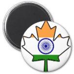 Hoja de arce india de la bandera iman de nevera
