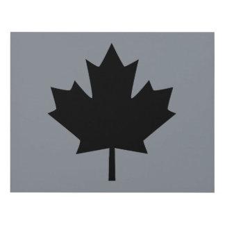 Hoja de arce negra canadiense intrépida cuadro