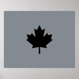 Hoja de arce negra canadiense intrépida póster