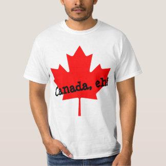 ¡Hoja de arce roja brillante grande Canadá eh! Remera