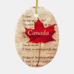 Hoja de arce roja - Canadá Adorno