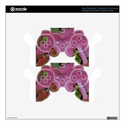 Hoja de arce roja - fotografía calcomanía para mando PS3
