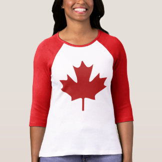 Hoja de arce roja camisetas