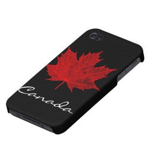 Hoja de arce rojo vibrante Canadá iPhone 4 Protectores