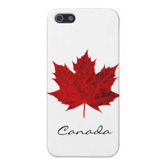 Hoja de arce rojo vibrante Canadá iPhone 5 Protectores