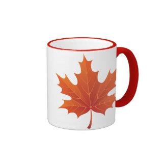 Hoja de arce taza de café