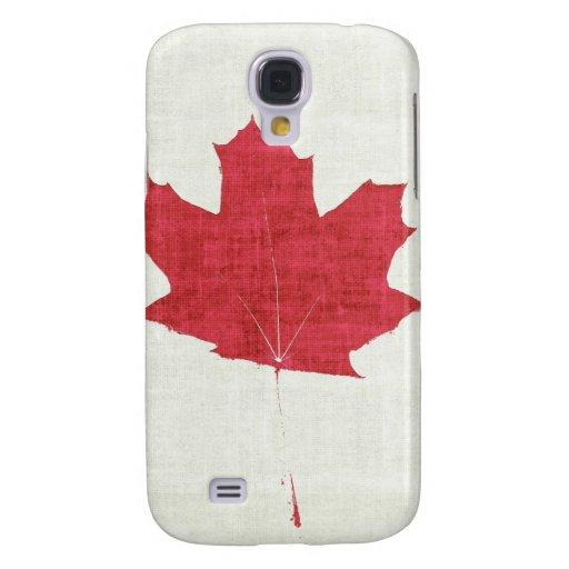 hoja de arce texturizada canadiense rojo