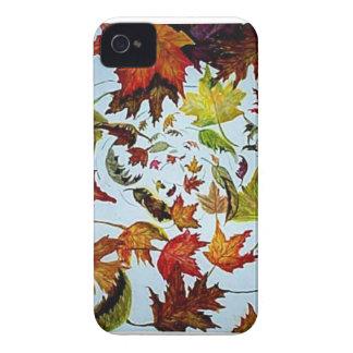 Hoja de arce Vorted - pintura del otoño de la acua iPhone 4 Cárcasa