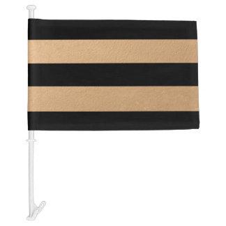 Hoja de bronce de las rayas negras elegantes