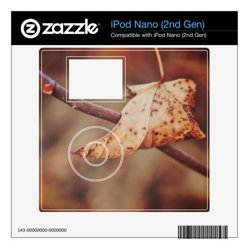 Hoja de Brown Skins Para iPod Nano 2G