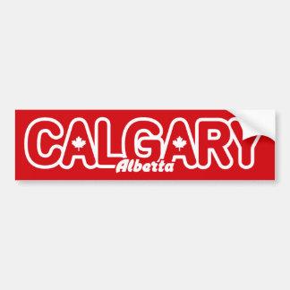 Hoja de Calgary Etiqueta De Parachoque