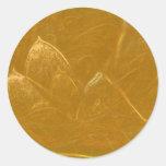 Hoja de cobre del oro n:  Lotus grabó diseño Pegatina Redonda