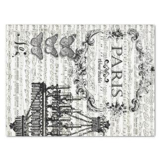 Hoja de Decoupage del collage de París Papel De Seda Mediano