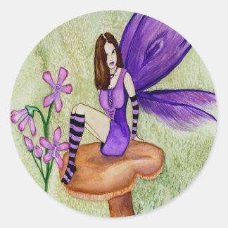 Hoja de hadas del pegatina de la orquídea