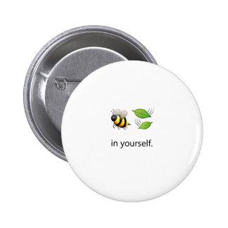 Hoja de la abeja en sí mismo Pin