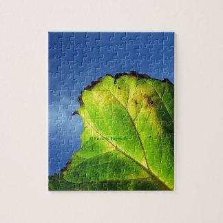 Hoja de la baya y colores del otoño puzzle