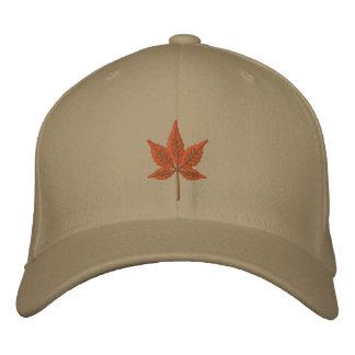 Hoja de la caída gorras de béisbol bordadas