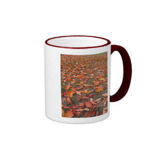 hoja de la cereza en gardenVOO4 Taza De Café