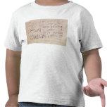 Hoja de la cuenta del 'claro de luna Sonata Camisetas