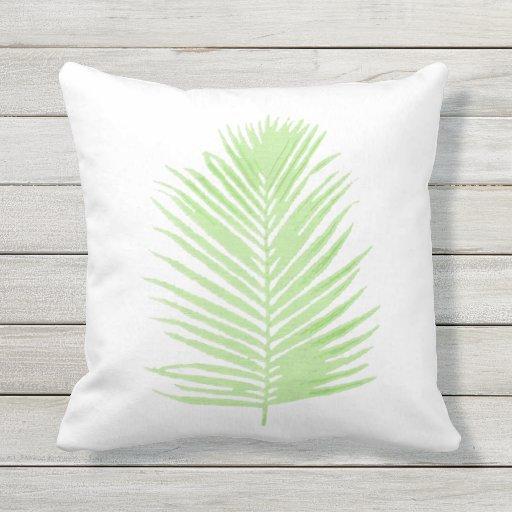 Hoja de la palmera almohada