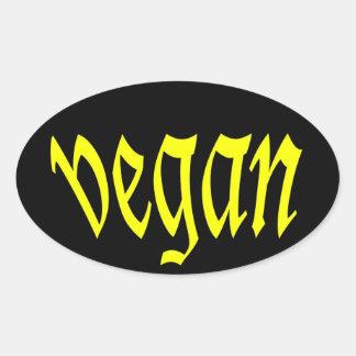 hoja de la pegatina para el parachoques del vegano