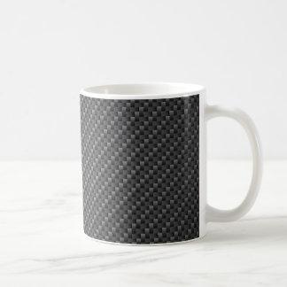 Hoja de la textura de la fibra de carbono taza básica blanca