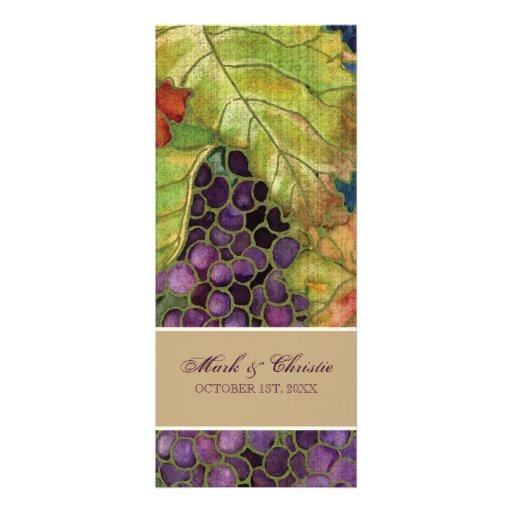 Hoja de la uva del otoño de la invitación del boda