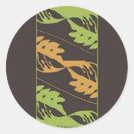Hoja de los árboles del pan (Brdr) Etiqueta Redonda