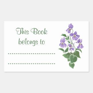 Hoja de los Bookplates del pegamento de las Pegatina Rectangular