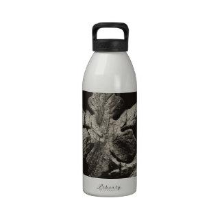 Hoja de madera botella de beber