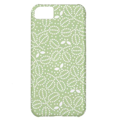 Hoja de Margarita y caja verdes de la mariposa Carcasa Para iPhone 5C