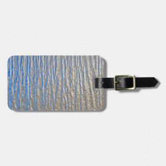 Hoja de metal decorativa brillante etiqueta para maleta