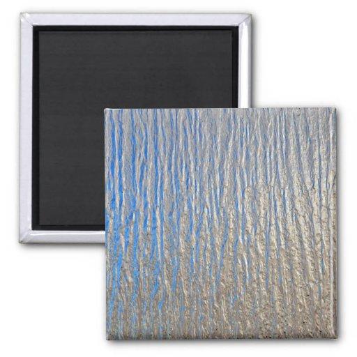 Hoja de metal decorativa brillante imán de frigorifico