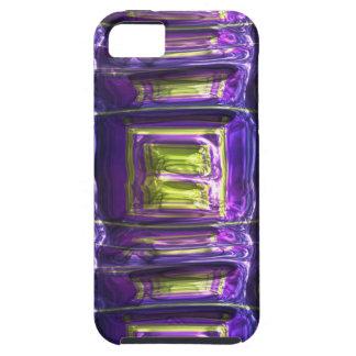 Hoja de metal multicolora machacada arte metálico iPhone 5 Case-Mate carcasas
