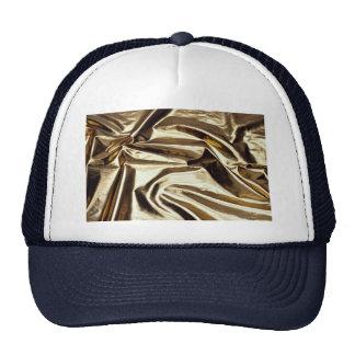 Hoja de metal reflexiva del oro gorra