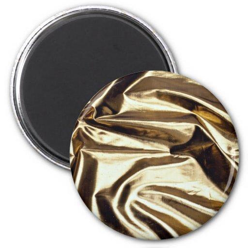 Hoja de metal reflexiva del oro imán de nevera