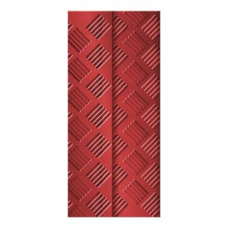 Hoja de metal roja tarjetas publicitarias a todo color