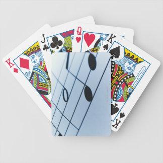 Hoja de música 2 barajas de cartas