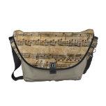 Hoja de música del vintage bolsas de mensajería