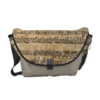 Hoja de música del vintage bolsas messenger