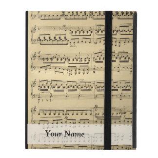 Hoja de música del vintage iPad coberturas