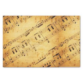 Hoja de música del vintage - papel seda papel de seda pequeño