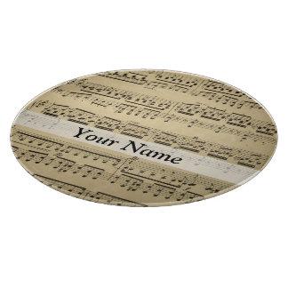 Hoja de música del vintage tabla para cortar