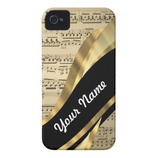 Hoja de música elegante Case-Mate iPhone 4 protector