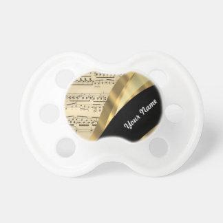 Hoja de música elegante chupetes para bebes