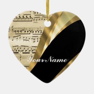 Hoja de música elegante adorno