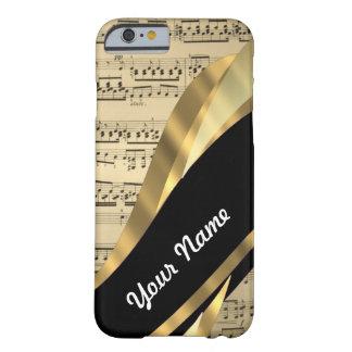 Hoja de música elegante funda barely there iPhone 6